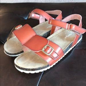 Girls brown leather sandals